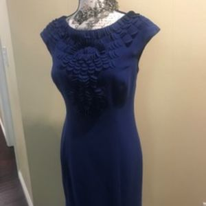 Antonio Melani Royal Blue Midi Dress